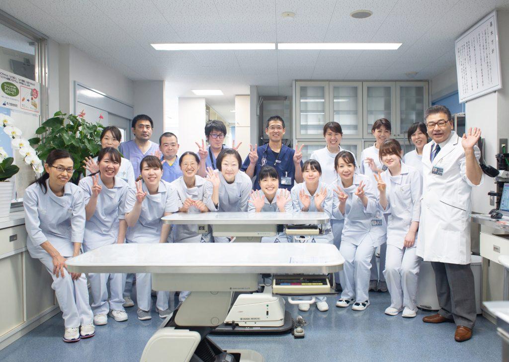あさ動物病院の笑顔のスタッフ集合写真